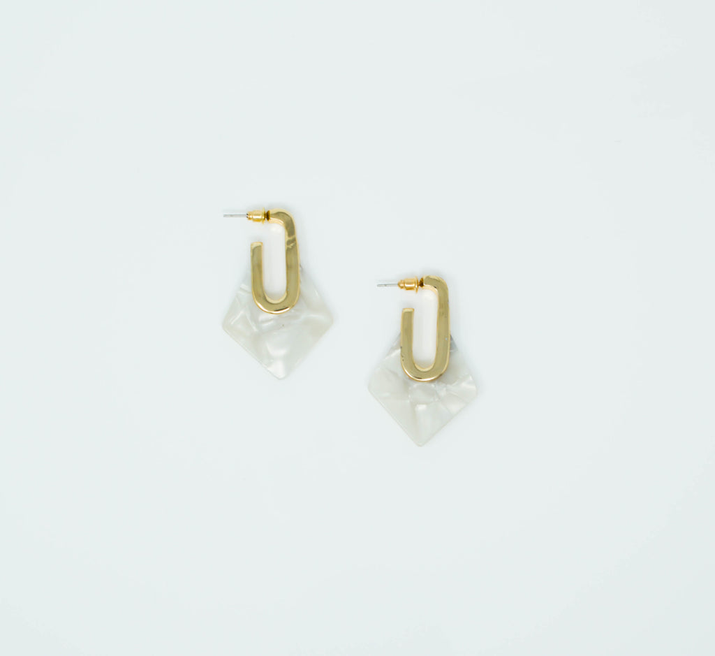 MAYA EARRINGS (WHITE) - Anna Philip