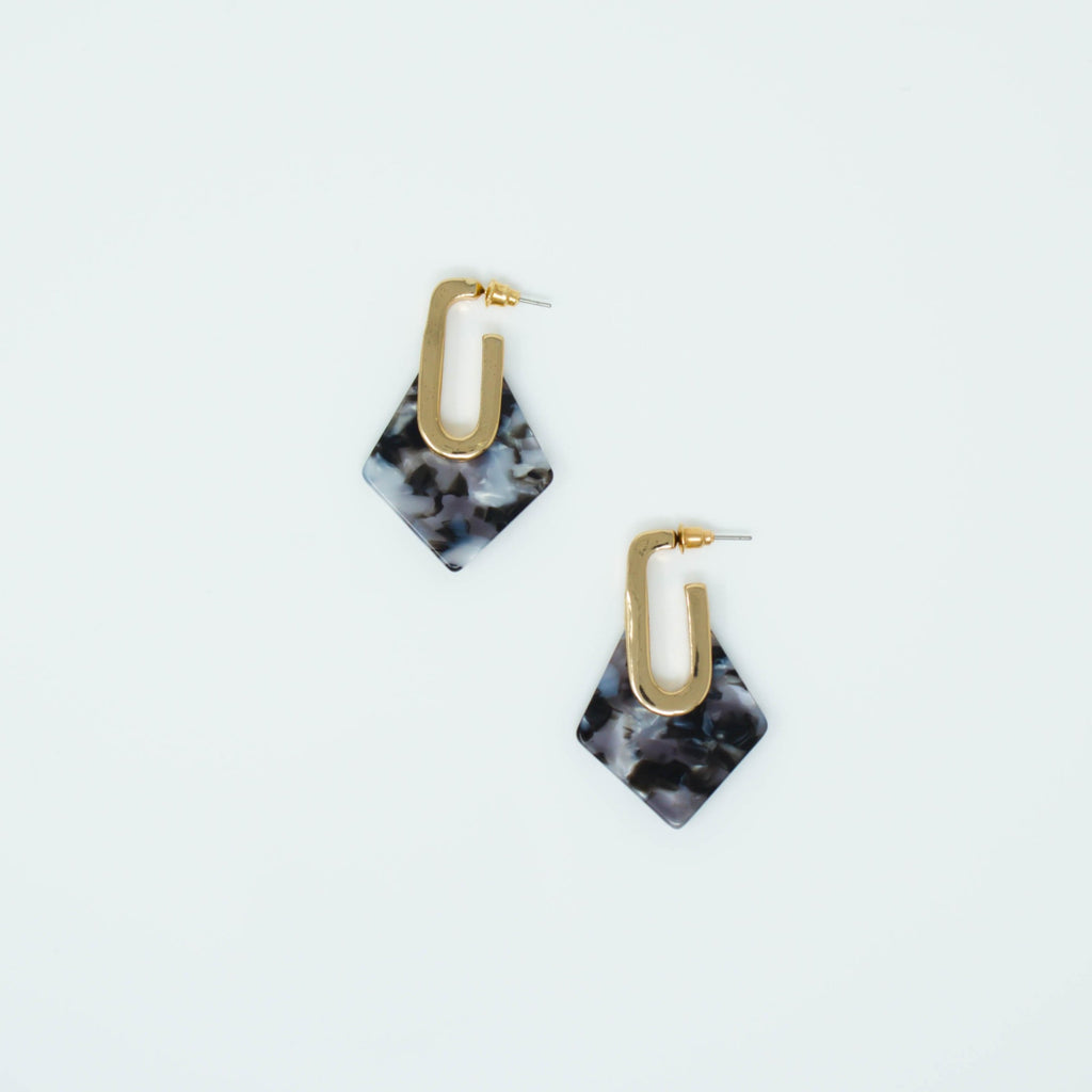 MAYA EARRINGS (BLACK) - Anna Philip