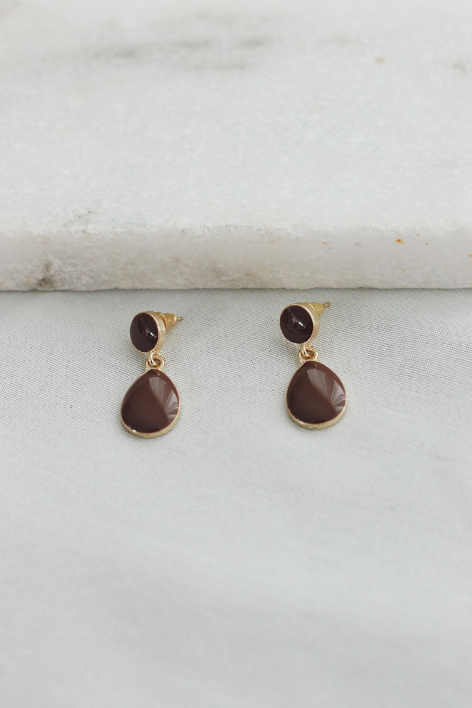 PELUMI EARRINGS - CHOCOLATE
