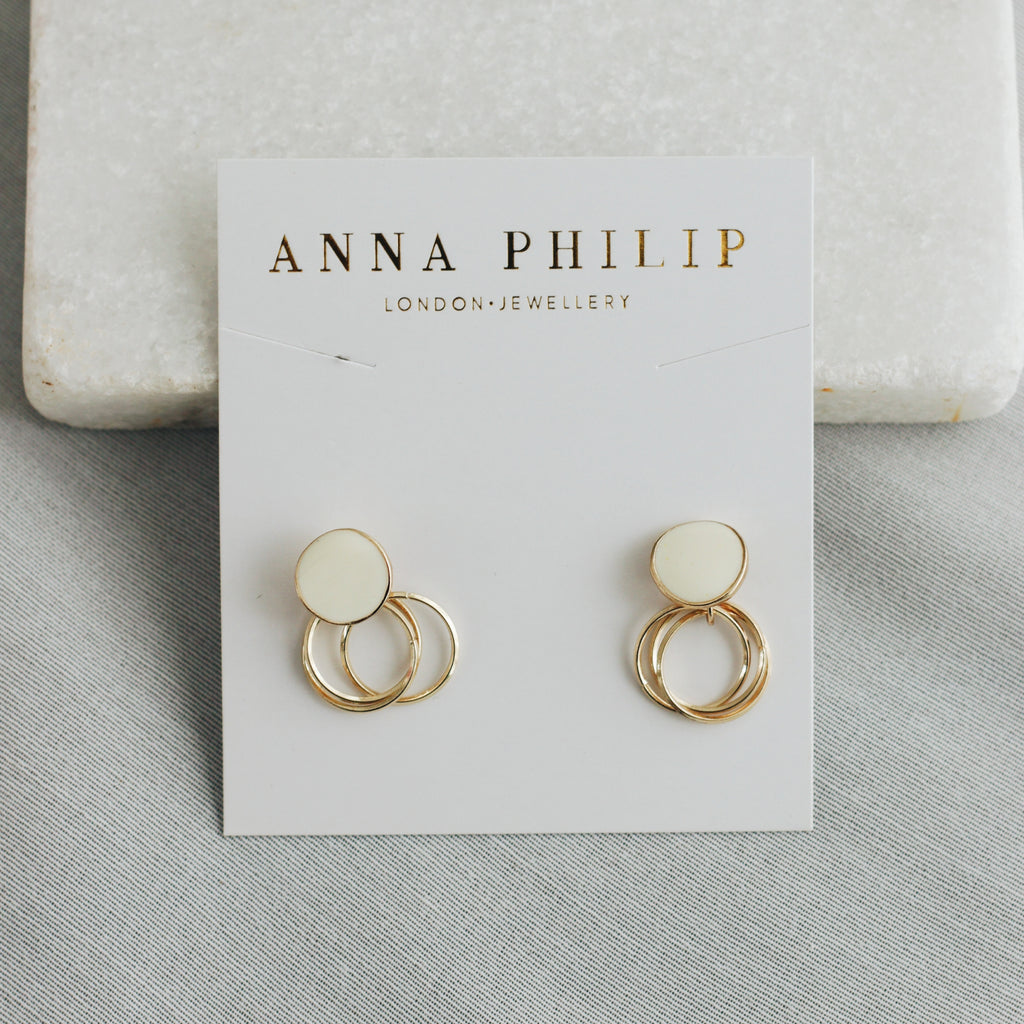 KIRA EARRINGS (WHITE)