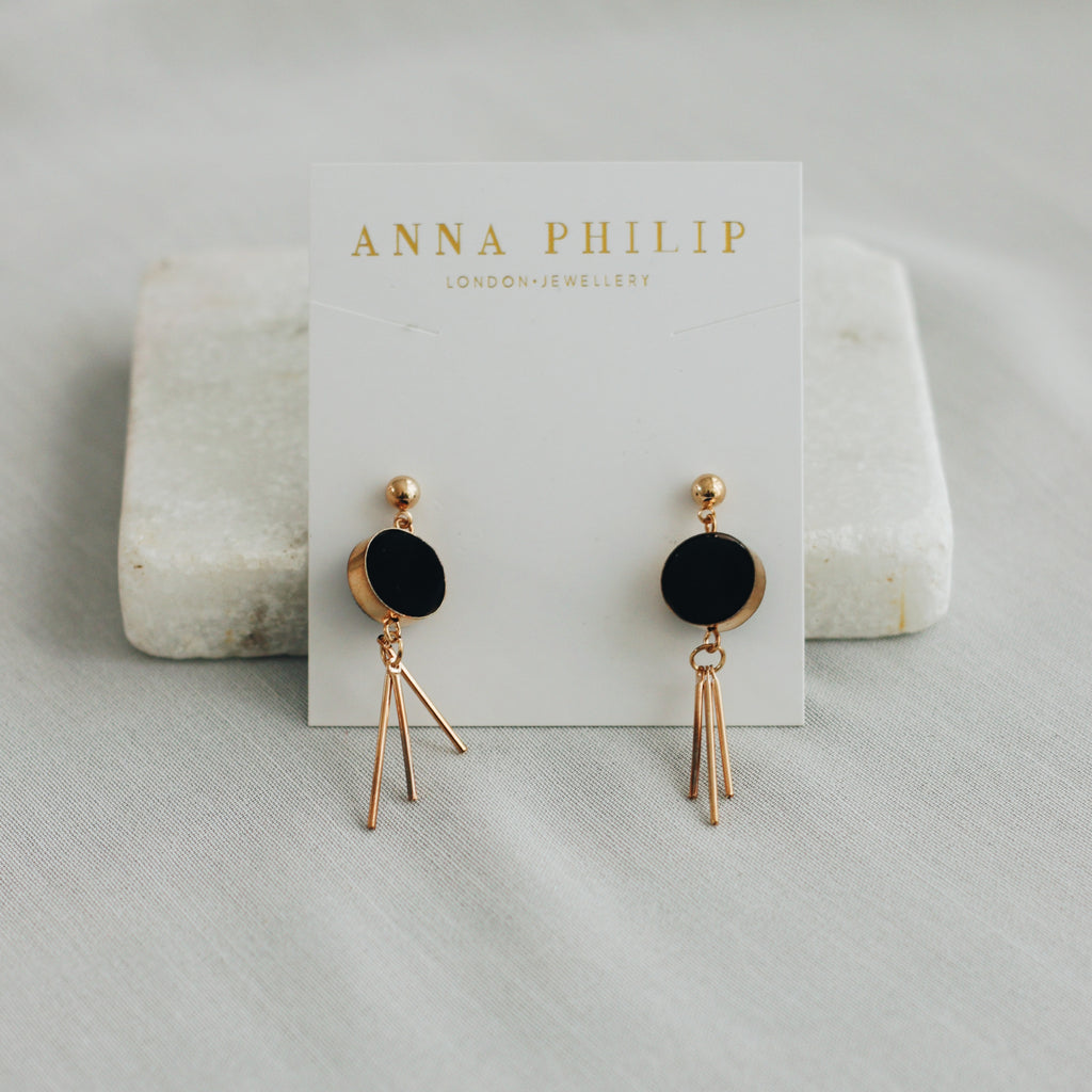 MIA EARRINGS - BLACK