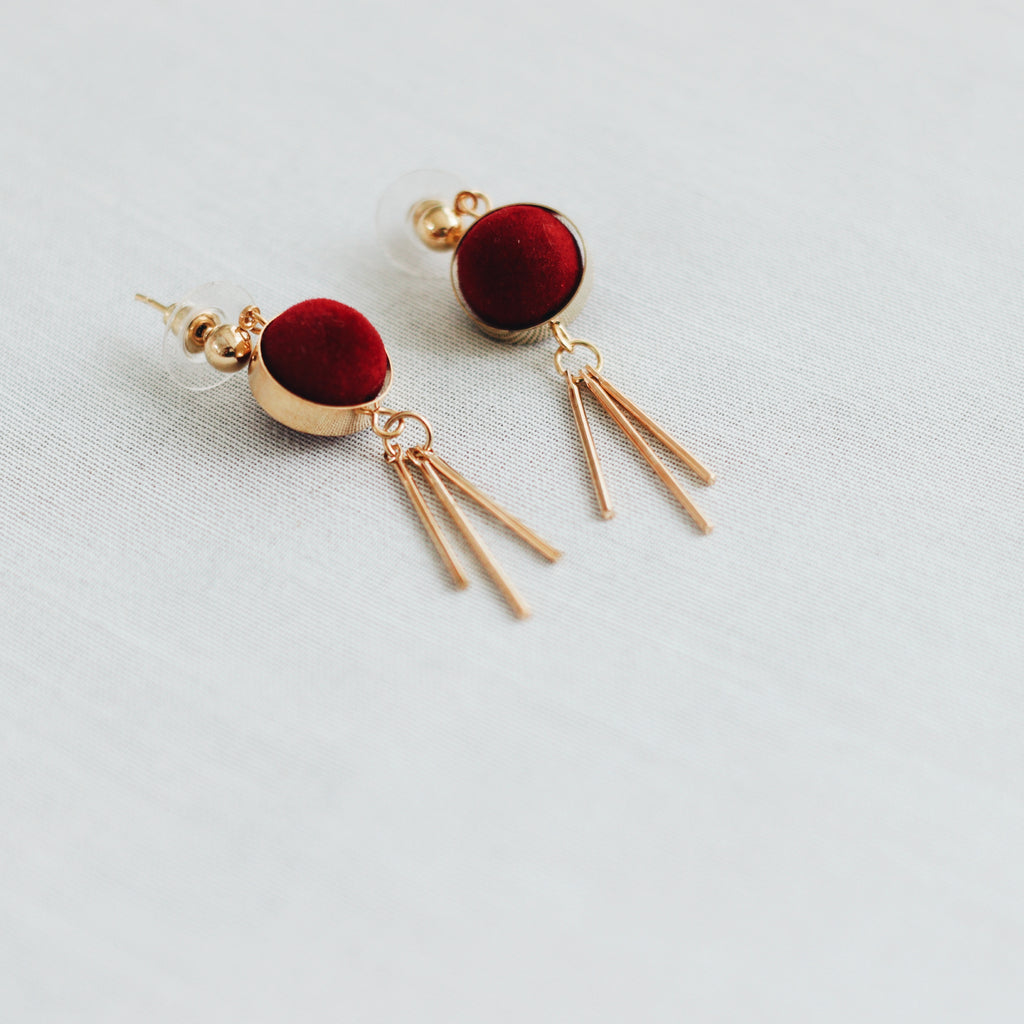 MIA EARRINGS - RUBY