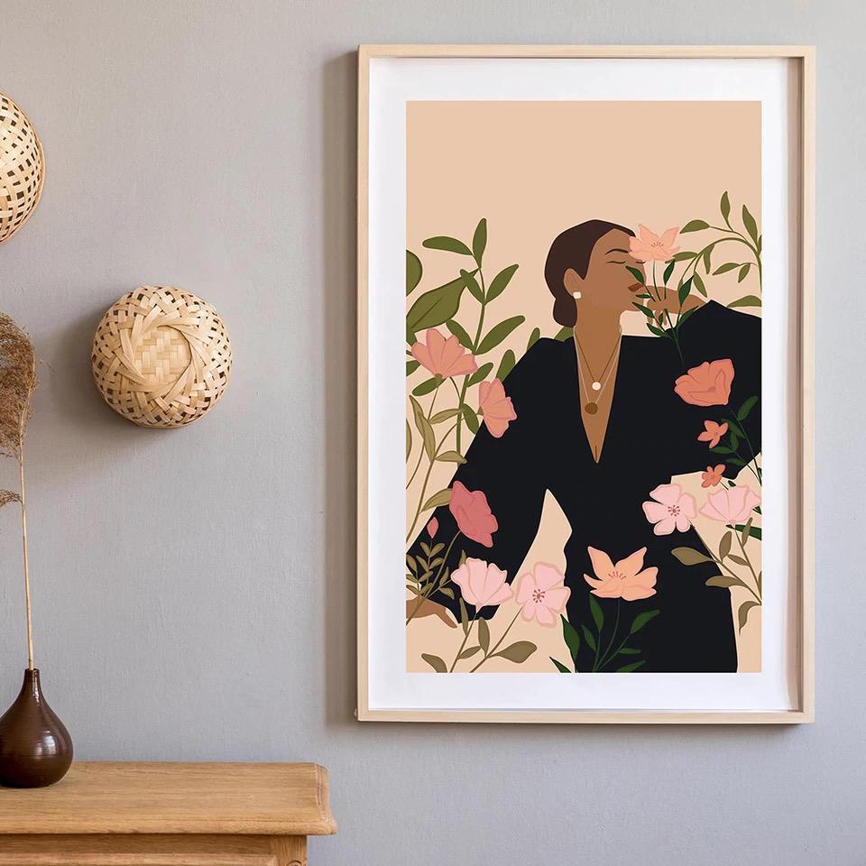 Framed Canvas Print - In Bloom
