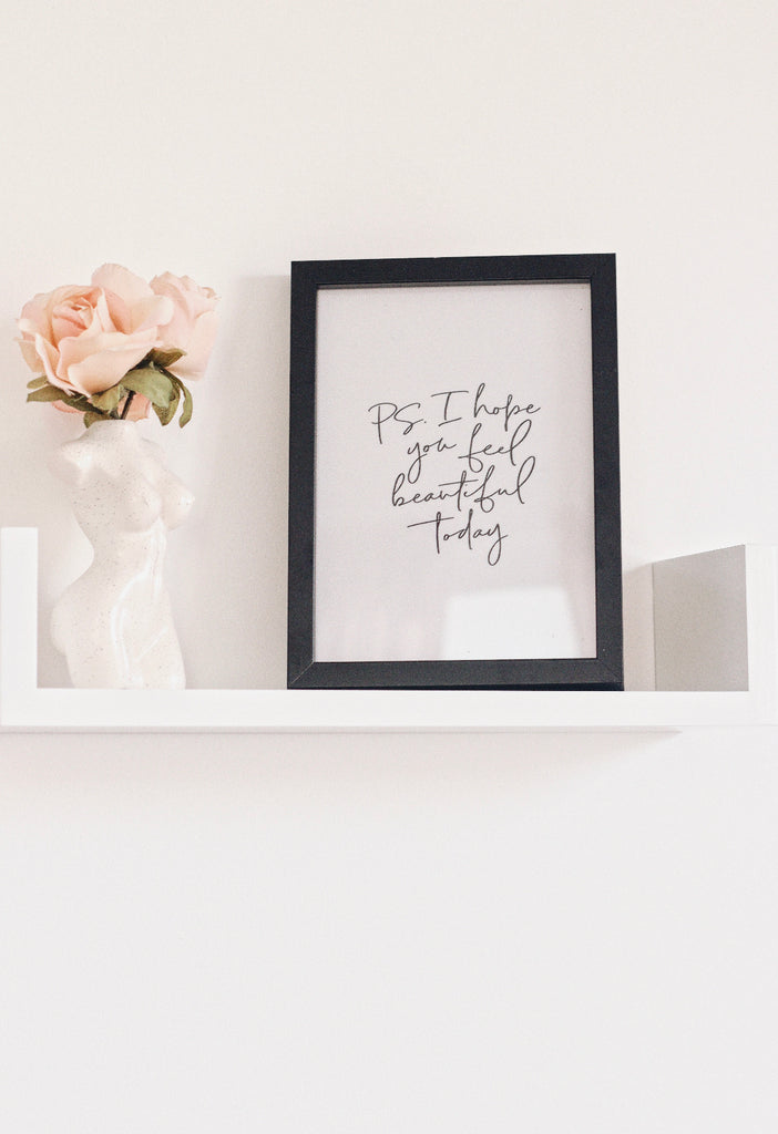 Framed Print - Feel Beautiful