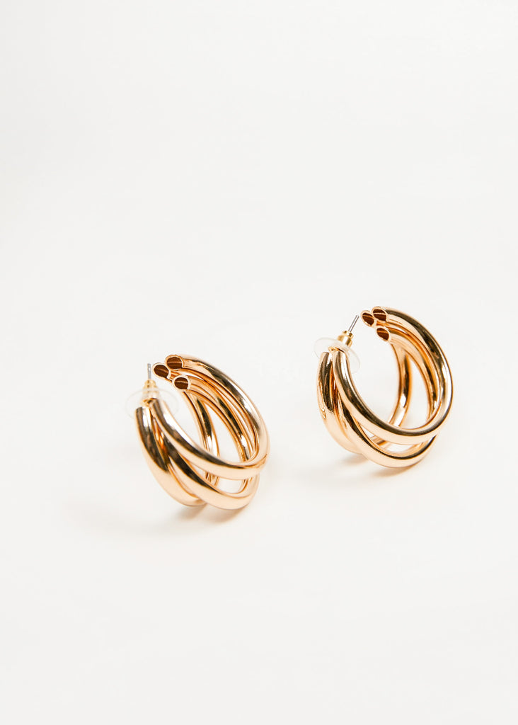 META - TRIPLE HOOP EARRINGS