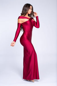 Body-con dress with opera sleeves