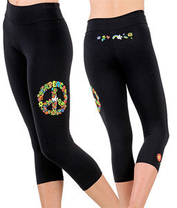 Margarita Activewear 1271T Neon Peace Sign Tight
