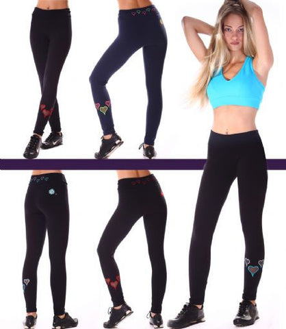 Margarita Activewear 13016TP Heart Legging