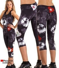 Margarita Activewear 51065T Batik Mesh Heart Tight