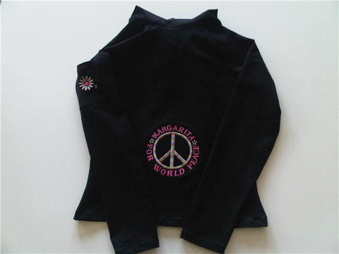 Margarita Activewear 540EM1 Jacket w/Rainbow Peace sign