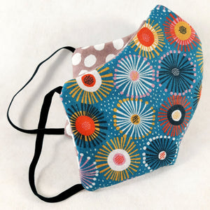Mask - Abstract Gum Flowers - Reversible - Free Shipping
