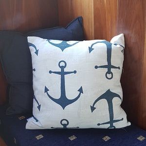 Cushion Cover - Navy Anchors