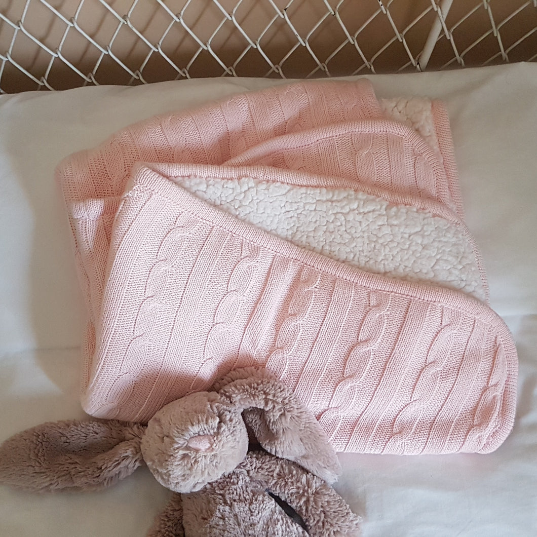 Baby Blanket - Blush Knit