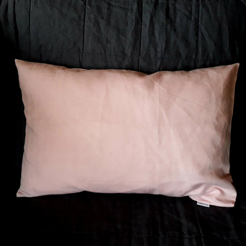 Toddler Pillowcase - Linen/Cotton Blend - Dusky Pink