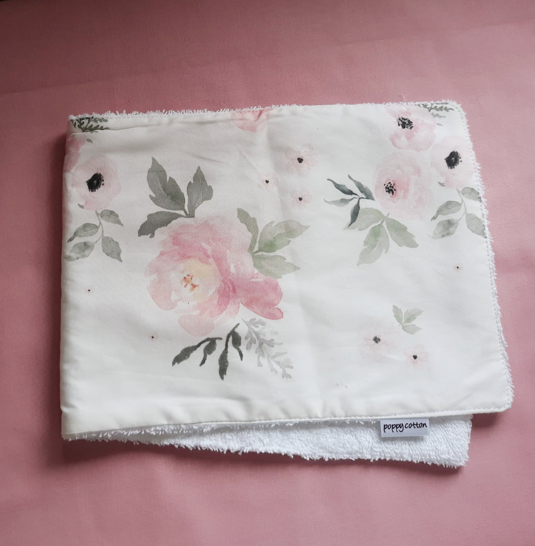 Burp Cloth - Blush Roses