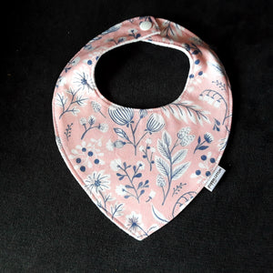 Baby Bib - Wildflowers on Blush
