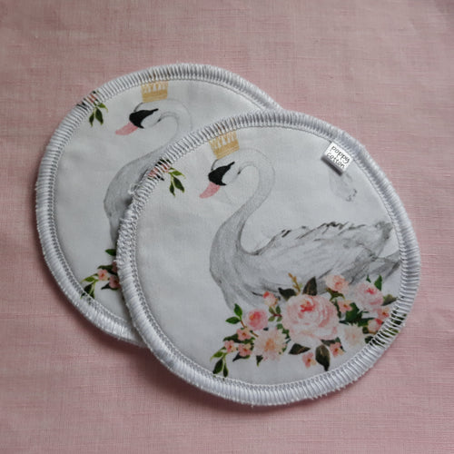 Reusable Nursing Pads - Swans