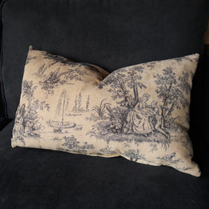 Velvet Cushion Cover - French Toile