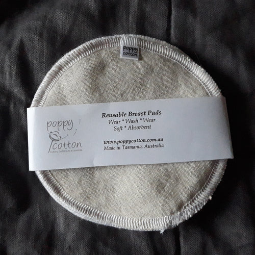 Reusable Nursing Pads - Oatmeal Linen