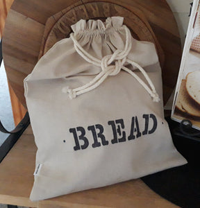 Natural Linen Draw String Bread Bag