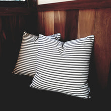 Load image into Gallery viewer, Black Ticking Stripe Cushion Cover