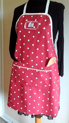 Apron - Red & White