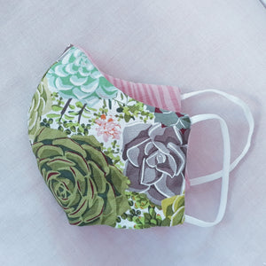 Mask - Succulents - Reversible - Free Shipping