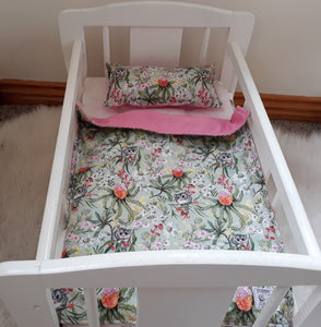 Dolls Cot Bedding Set - Ring Tail Possum