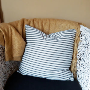 Black Ticking Stripe Cushion Cover