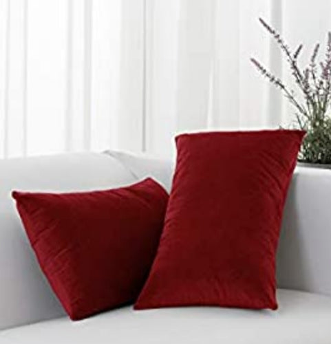 Red Linen Lumber Pillow