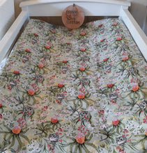 Load image into Gallery viewer, Fitted Bassinet Sheet / Change Mat Cover - Fauna Possum