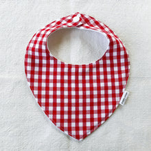 Load image into Gallery viewer, Red Gingham Bib