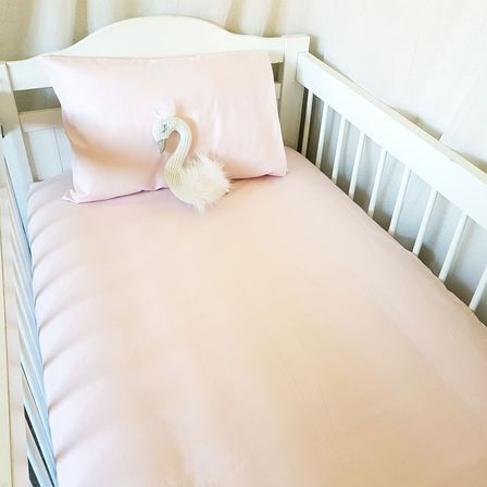 Fitted Cot Sheet - Ballet Pink