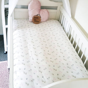 Fitted Cot Sheet - Acorns