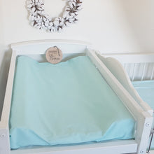 Load image into Gallery viewer, Change Mat Cover / Bassinet Sheet - Aqua