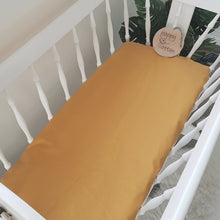 Load image into Gallery viewer, Change Mat Cover / Bassinet Sheet - Mustard