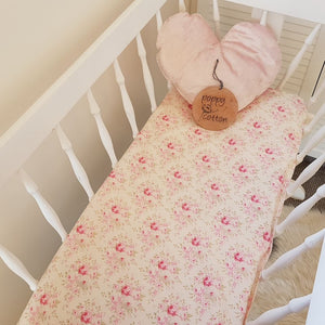 Fitted Bassinet Sheet - Pink Roses