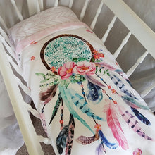 Load image into Gallery viewer, Bassinet Quilt - Dream Catcher - Pink & Aqua