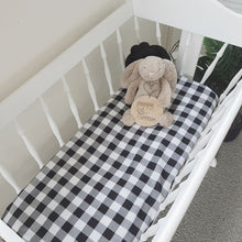 Load image into Gallery viewer, Gingham Fitted Bassinet Sheet - Black, Red or Navy options