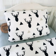 Load image into Gallery viewer, Toddler Pillow Case - Stags - Black