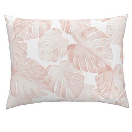 Toddler Pillow Case - Blush Monstera