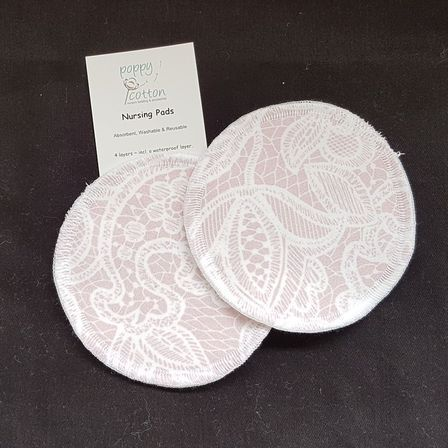 Reusable Nursing Pads ~ Blush Lace