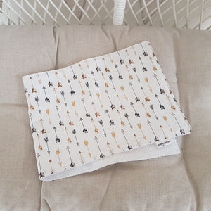 Burp Cloth - Black & Gold Arrows