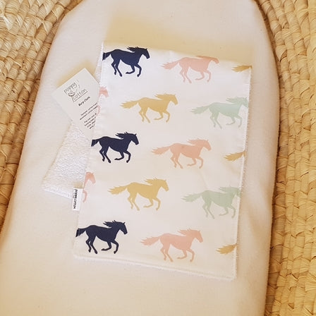 Burp Cloth - Horses