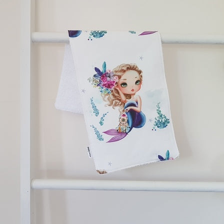 Burp Cloth - Mermaid