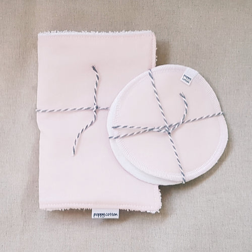 Nursing Pads & Burp Cloth Set - Ballet Pink