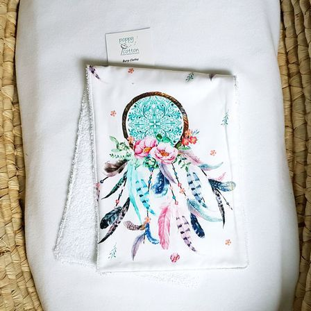 Burp Cloth - Dream Catcher - Pink & Aqua
