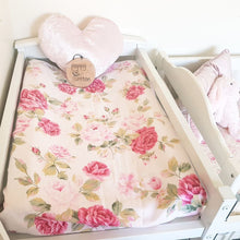 Load image into Gallery viewer, Vintage Bassinet Sheet - Pink Peonies