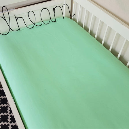 Fitted Bassinet/Cot Sheet - Mint