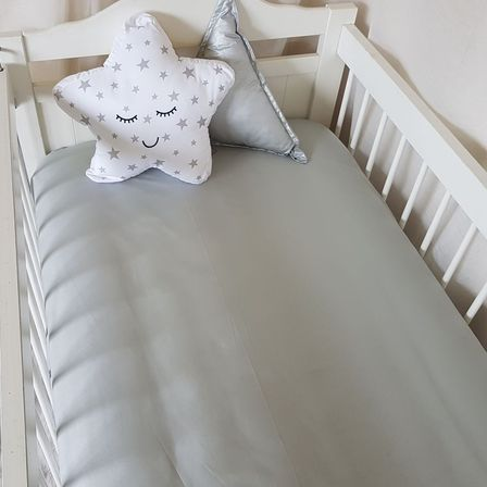 Fitted Cot Sheet - Silver Grey